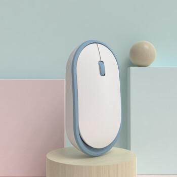 余音温かシリーズ静音可愛い女の子発光充電式ノートパソコンワイヤマウス(ワイヤマウスマウスワイヤレス)フレッシュブルー(ボタン静音版)