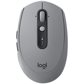 ロジク·ル(Logitech)M 590ワイヤレス静音ブロックツゥーツマウスダブルモデル接続オフィスビジネスノート家庭用マウスFlow技術砂岩灰