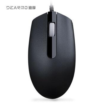 DEARMO(DEARMO)M 180ケーブルマウスデスクトップPCマウスUSB光電子男女出産マウスブラック1000 DPI