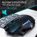ET X-08ワイヤレスマウスゲ-ミングーウスマウス機械マウス競合無声オフィスデスクトップパソコンノートcf英雄連盟lol加重サイズ黒赤